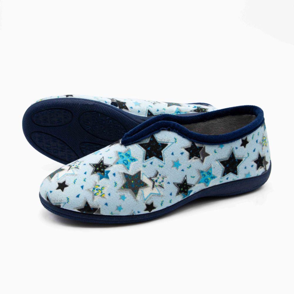 Zapatilla Inglesa Estrellas Azul